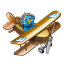 Twitter flying boy icon