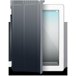 iPad 2 White black cover