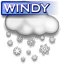 Windy Snow Icon