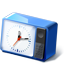 Blue Desk Clock icon