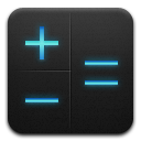 Calculator black and blue