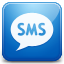 Sms blue icon