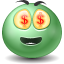 Money emoticon Icon