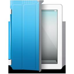 iPad 2 White blue cover