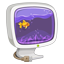Computer aquarium icon