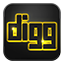 Digg neon glow Icon