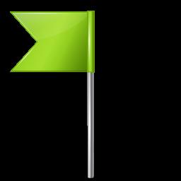 Map Marker Flag 4 Left Chartreuse