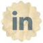 Retro Linkedin Icon