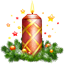 Candle Christmas Icon