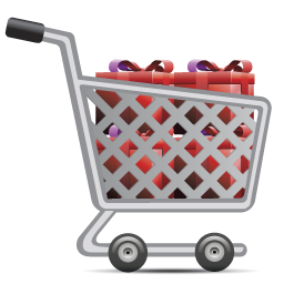 Shopping Cart Full Of Gifts-256