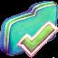 Finished Green Folder Icon