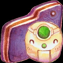 Robot Violet Folder
