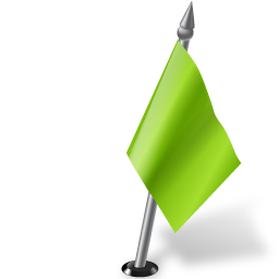 Map Marker Flag 2 Right Chartreuse