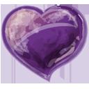 Herz violet-128