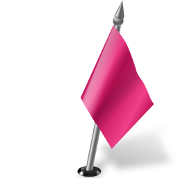 Map Marker Flag 2 Right Pink