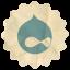 Retro Drupal icon