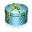 Blue Round Gift Box icon