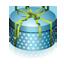 Blue Round Gift Box-64