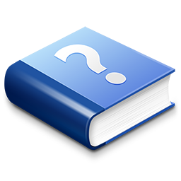 Blue Help Book Icon Download Hel Icons Iconspedia