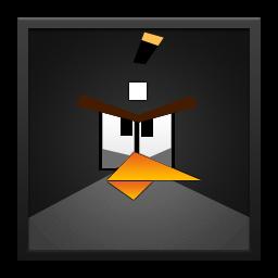 Black Angry Bird Black Frame