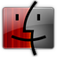 Finder red gray icon