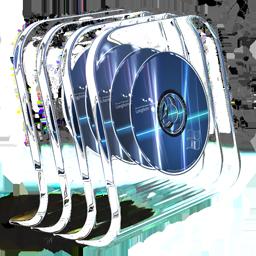 DVD in glass