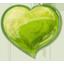 Herz grun-64