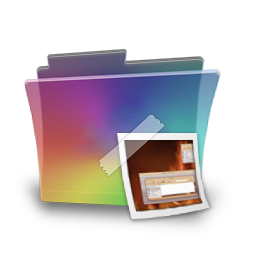 Folder rainbow picture