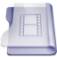 Purple movies icon