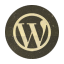 Retro Wordpress Rounded icon