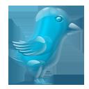 Glass Twitter Bird-128