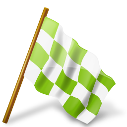 Map Marker Chequered Flag Right Chartreuse