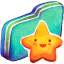 Starry Green Folder icon