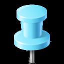 Map Marker Push Pin 2 Azure-128
