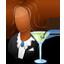 Bartender Female Dark icon
