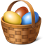 Easter Eggs Basket Icon