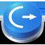 Button logoff icon