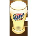 Miller beer glass-128