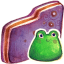 Froggy Violet Folder icon