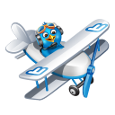 Twitter flying boy blue-128