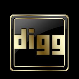 Digg Black and Gold