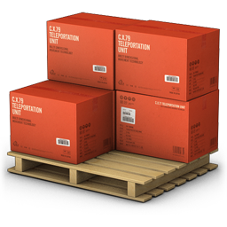 Red Cargo Boxes