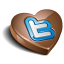 Twitter heart chocolate icon