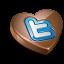 Twitter heart chocolate Icon
