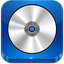 CD ROM blue icon