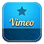 Vimeo retro icon