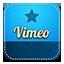 Vimeo retro icon