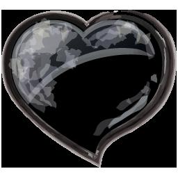 Herz schwarz