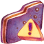 Caution Violet Folder Icon