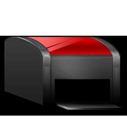 Printer black red
